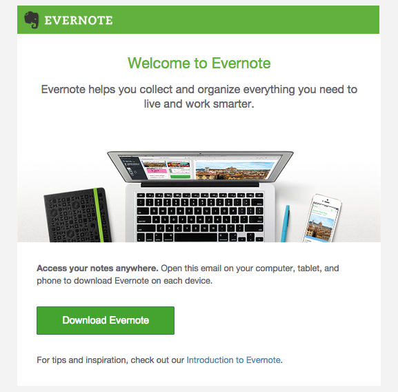 evernote-welcome-email