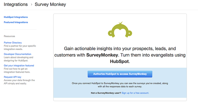 surveymonkey-hubspot-integration-page