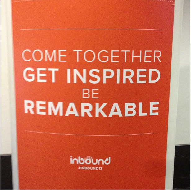 Come Together Get Inspired - HubSpot Inbound 13