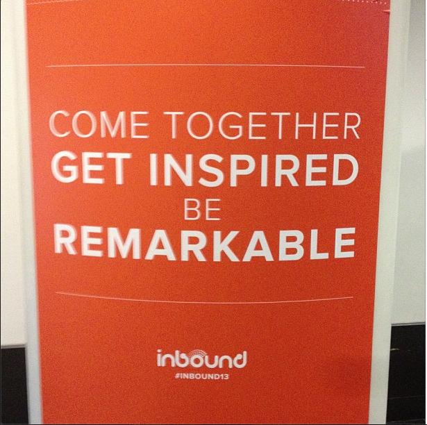 Come Together Get Inspired - HubSpot Inbound 13