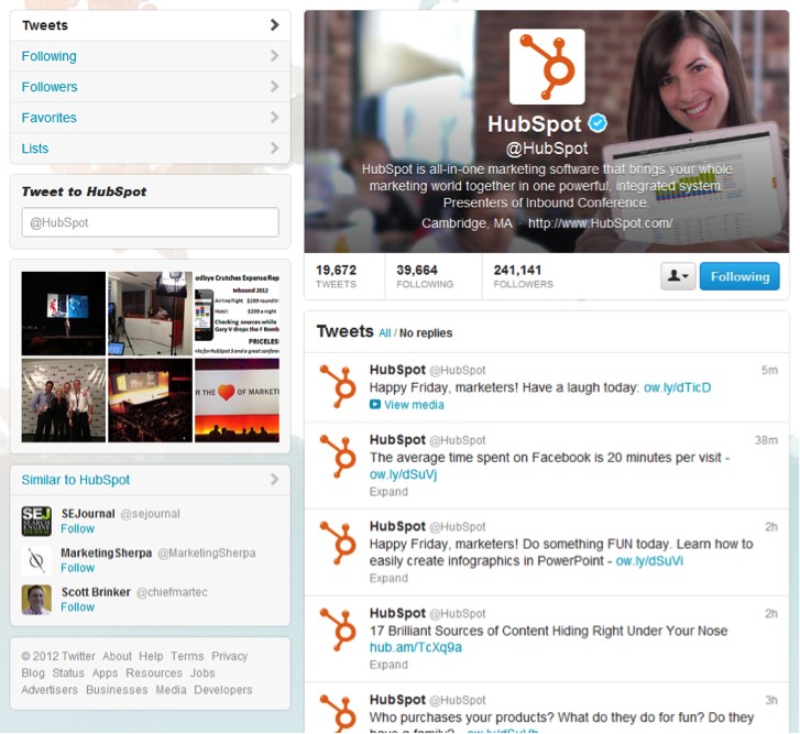HubSpot-Twitter-Profile