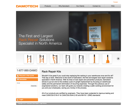 Damotech's old homepage