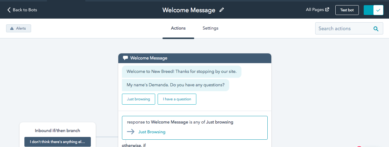 New Breed Success with HubSpot's Chatbot