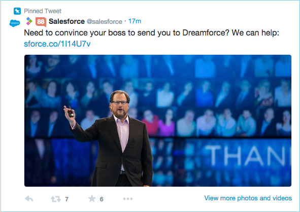 Salesforce-twitter-pinned-post