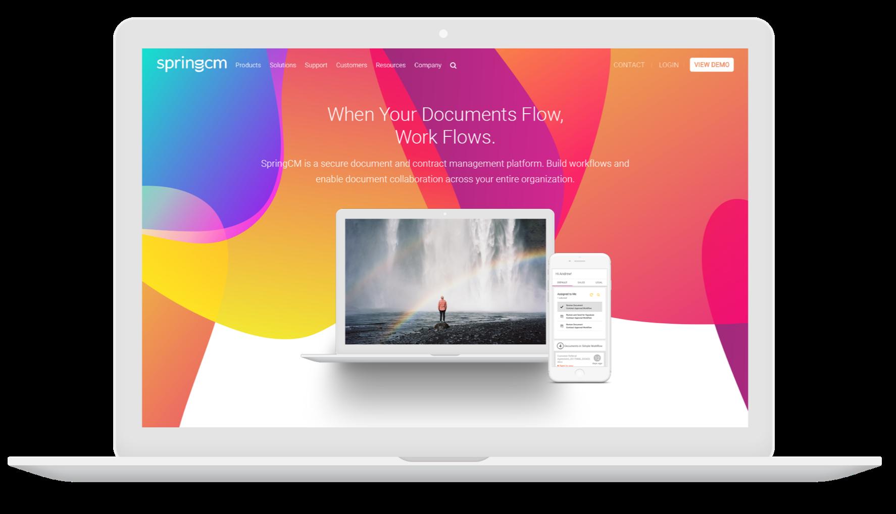 SpringCM New Website Design
