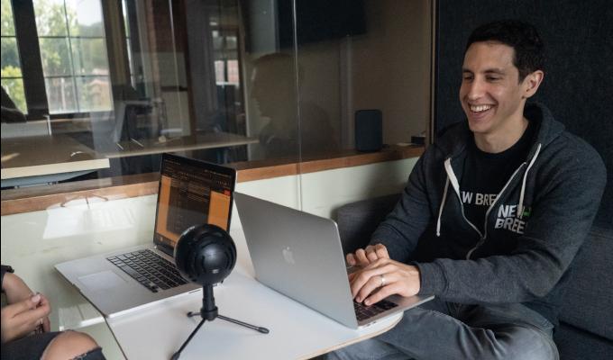 New Breed's Guido Bartolacci hosting a podcast.