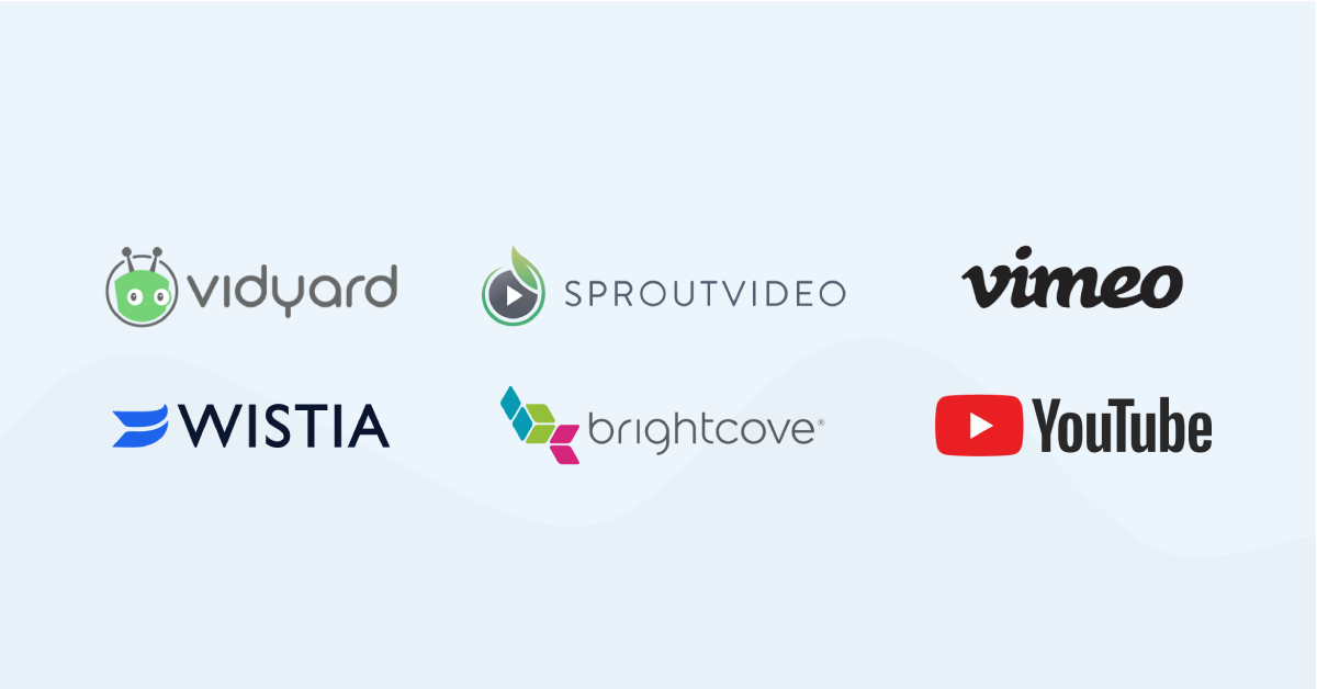 Logos of video hosting sites in this list.
