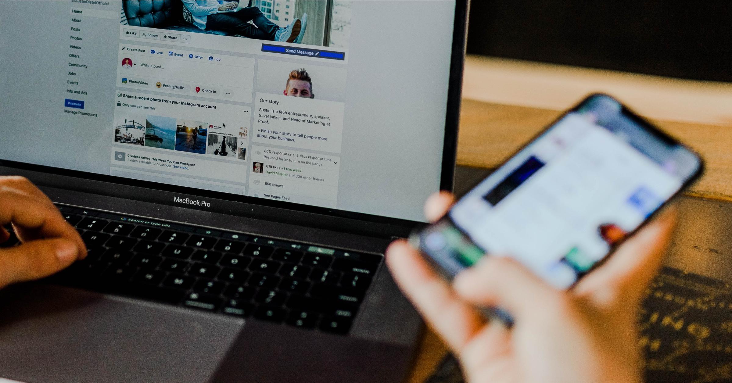 User reviews a brand's social media presence.