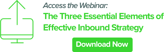 the three essential elements of effective inbound marketing strategy