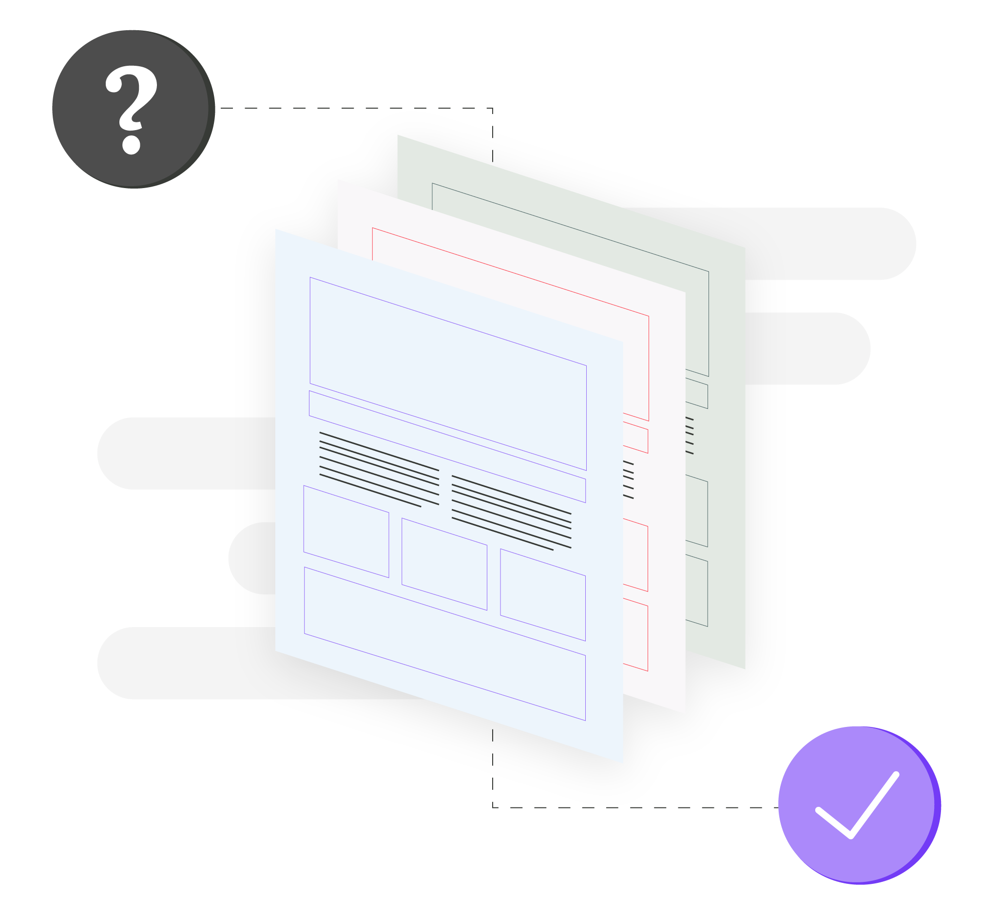 Graphic of website adaptive testing