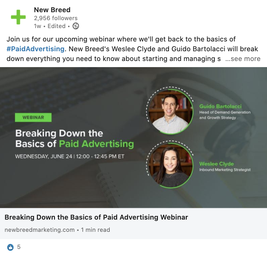 Webinar-Social Promo